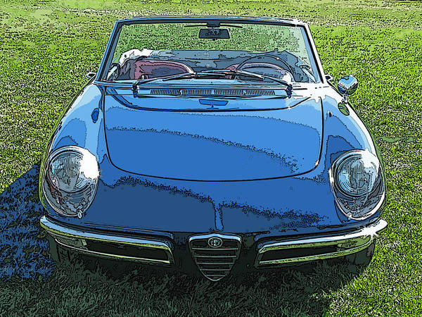 Blue Alfa Romeo Spyder Art Print