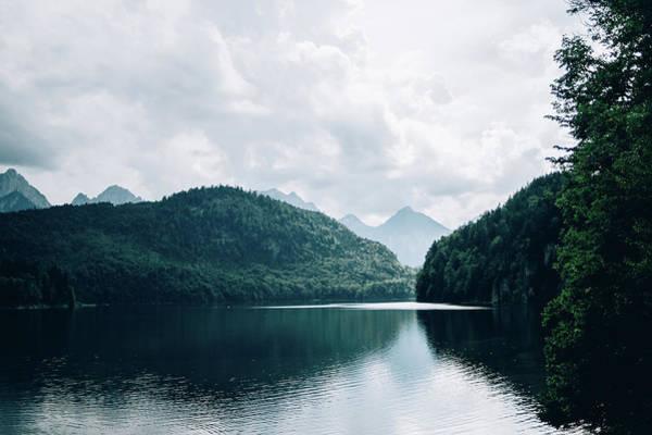 Wall Art - Photograph - Blue Alpsee Mountain Lake by Pati Photography