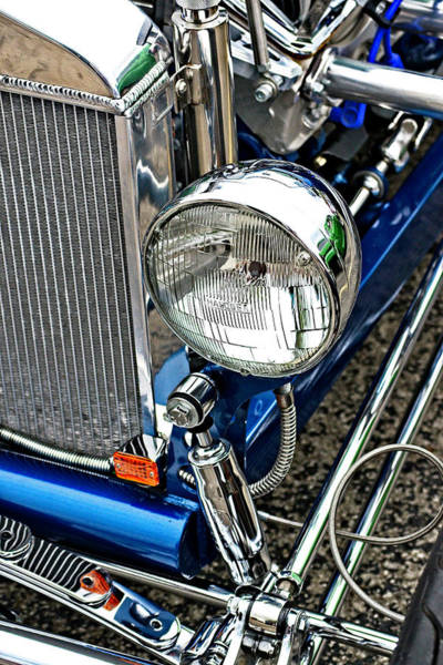 Otp Photograph - Blue And Chrome by Marshall Barth