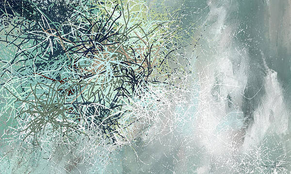 Wall Art - Painting - Blue And Gray Modern Abstract Art by Lourry Legarde