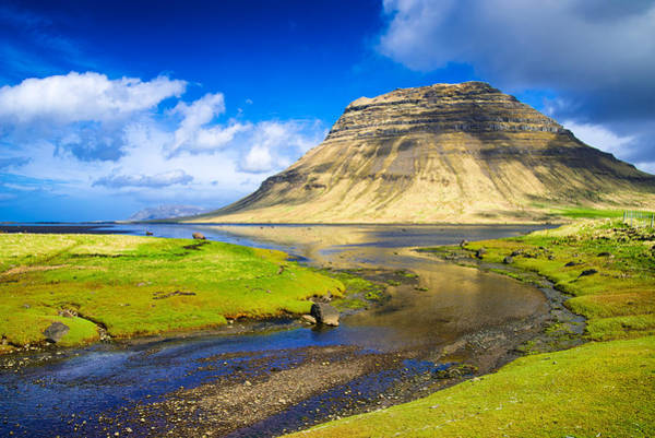 Photograph - Blue And Green Summer Landscape In Iceland by Matthias Hauser