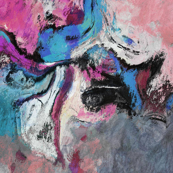 Painting - Blue And Pink Abstract Painting by Inspirowl Design
