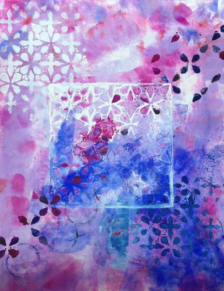 11x14 Painting - Blue And Pink by Cynthia Shaw