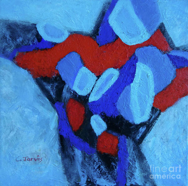 Painting - Blue And Red by Carolyn Jarvis