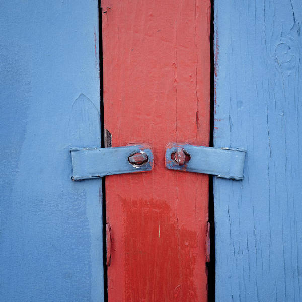 Wall Art - Photograph - Blue And Red Gate by Joseph Smith
