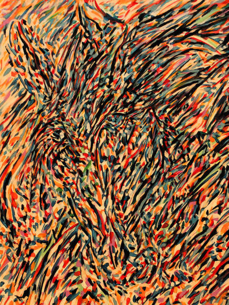 Ranchera Wall Art - Digital Art - Blue And Red Horse by Jimmy Longoria