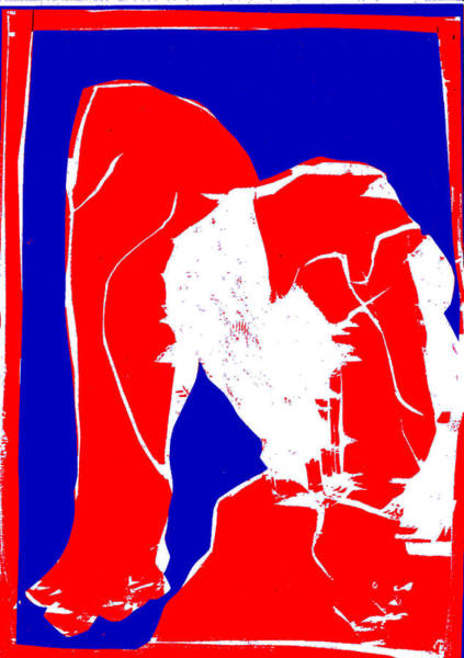 Digital Art - Blue And Red Series - Birth by Artist Dot