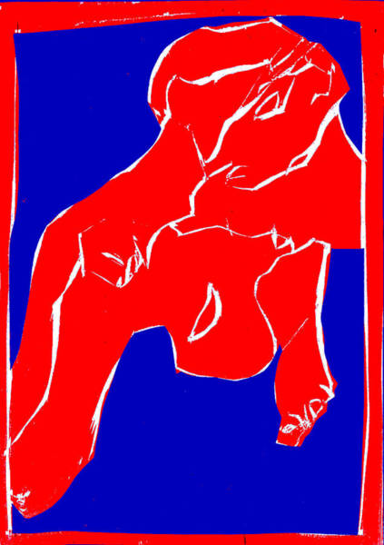 Digital Art - Blue And Red Series - In The Hospital by Artist Dot