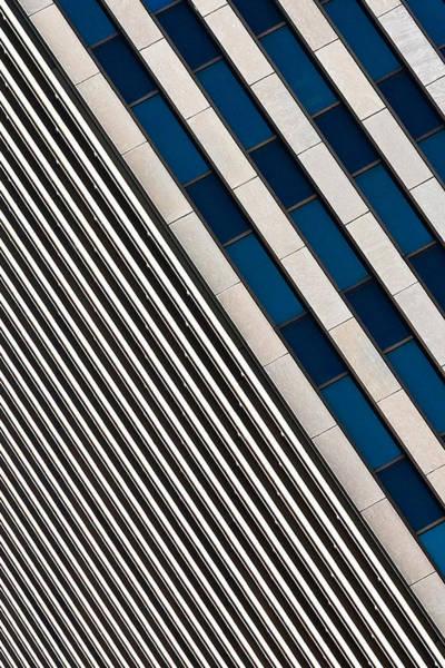 Blue And White Diagonals Art Print