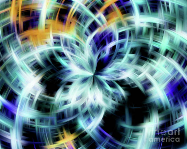 Digital Art - Blue And White Galaxy by Smilin Eyes  Treasures