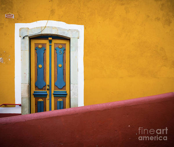 Wall Art - Photograph - Blue And Yellow Door by Inge Johnsson
