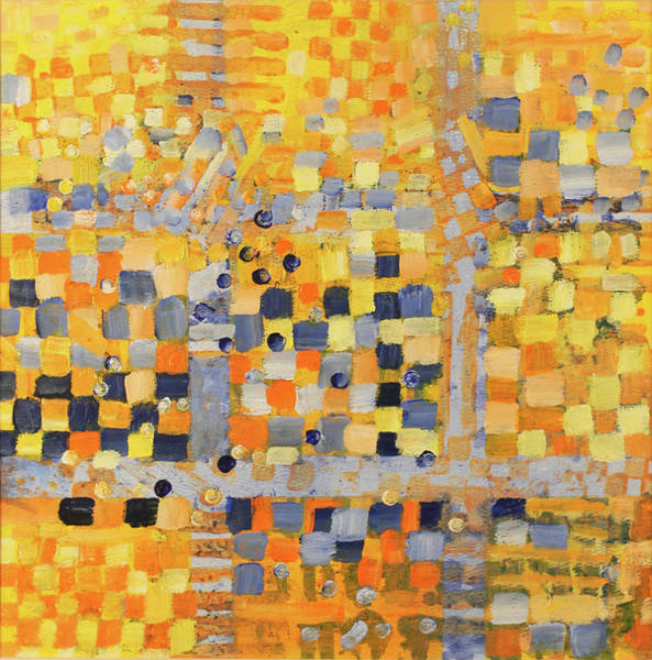 Complimentary Colors Mixed Media - Blue And Yellow by Irma   Ostroff