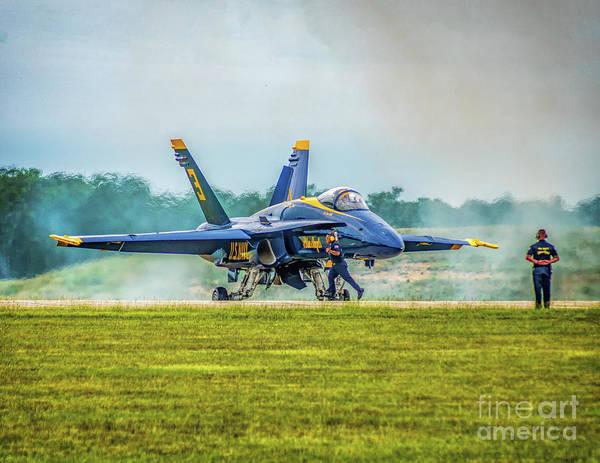 Photograph - Blue Angel 3 Ready by Nick Zelinsky