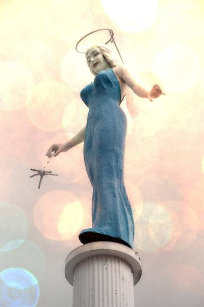 Photograph - Blue Angel Bokeh by Alice Gipson