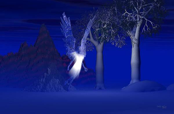 Blue Angel Art Print