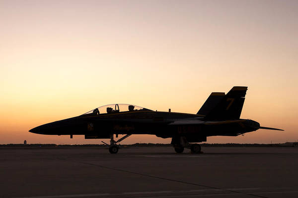 Photograph - Blue Angel On The Ramp At Sunset by Liza Eckardt