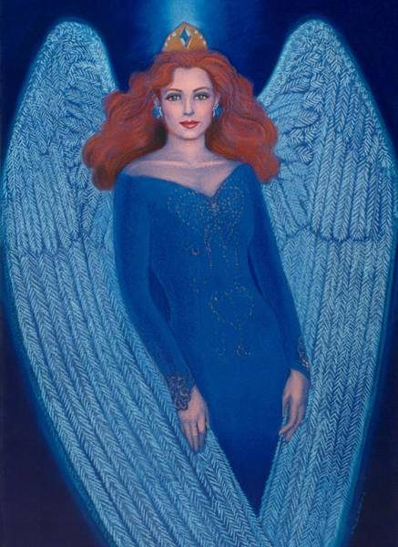 Wall Art - Painting - Blue Angel by Sue Halstenberg