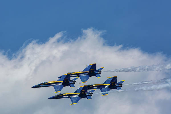 Wall Art - Photograph - Blue Angels 1 by Heather Kenward