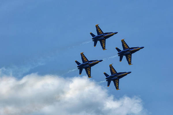 Wall Art - Photograph - Blue Angels 3 by Heather Kenward
