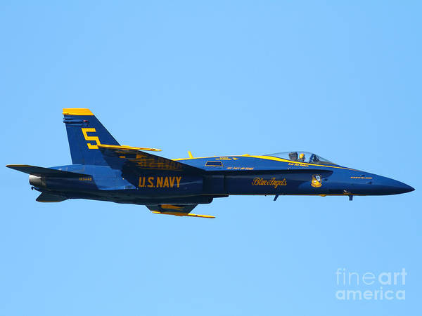 Photograph - Blue Angels F-18 Super Hornet . 7d8049 by Wingsdomain Art and Photography
