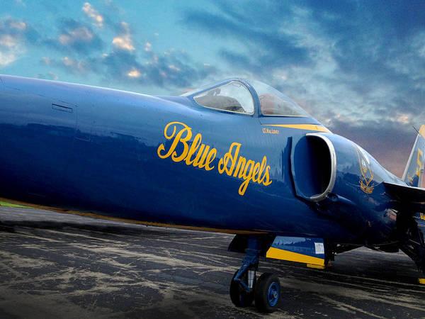 Photograph - Blue Angels Grumman F11 by Rod Seel