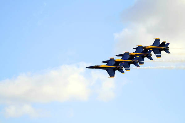 Photograph - Blue Angels In Formation II by Gigi Ebert
