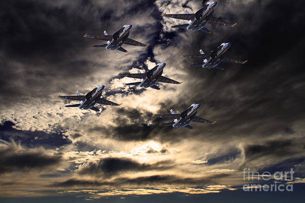 A-18 Hornet Wall Art - Photograph - Blue Angels In The Sky by Wingsdomain Art and Photography