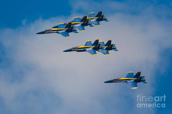 Blue Angels Photograph - Blue Angels by Inge Johnsson