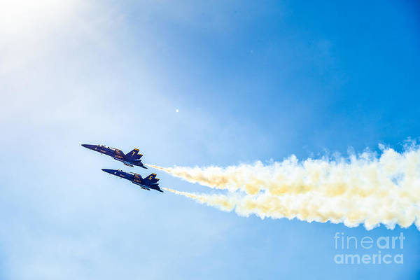 Photograph - Blue Angels Into The Sun by Jim DeLillo