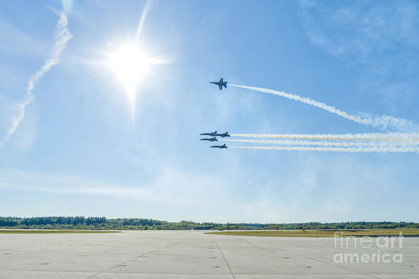 Photograph - Blue Angels Low Pass by Jim DeLillo