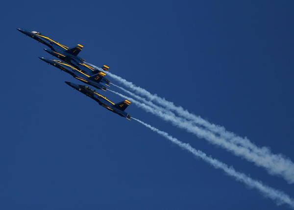 Photograph - Blue Angels Over San Francisco Bay by John King