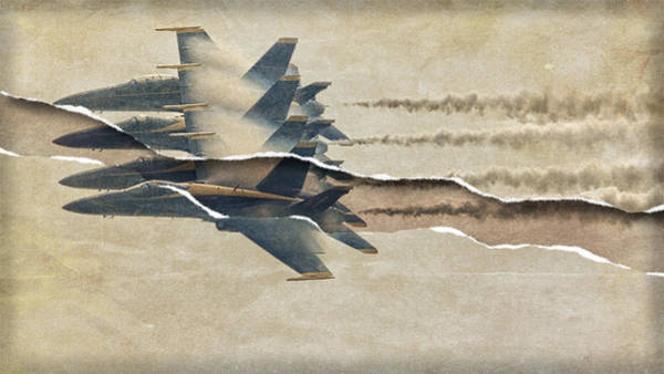 Photograph - Blue Angels Rip by Alice Gipson