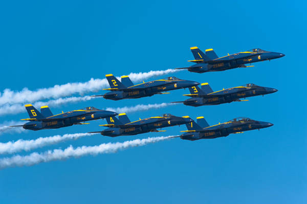 Photograph - Blue Angels by Sebastian Musial