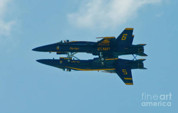 Wall Art - Photograph - Blue Angels Solo Mirror 2 by Tim Mulina