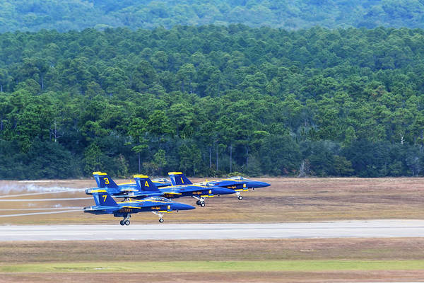 Photograph - Blue Angels Takeoff by Kay Brewer