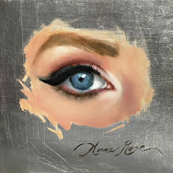 Eyeliner Wall Art - Painting - Blue by Anna Rose Bain