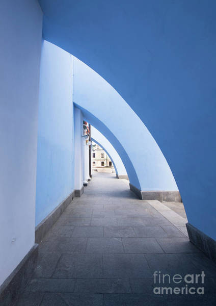 Wall Art - Photograph - Blue Arch Hallway by Juli Scalzi