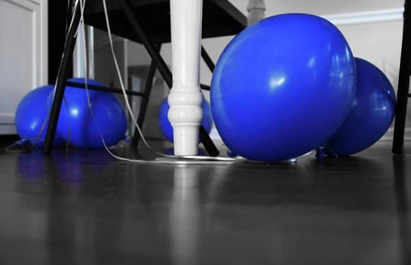 Photograph - Blue Balloons by Jennifer Ancker