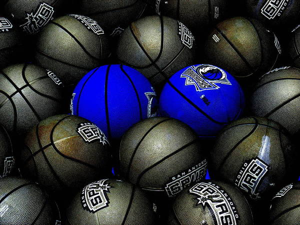 Blue Balls Art Print