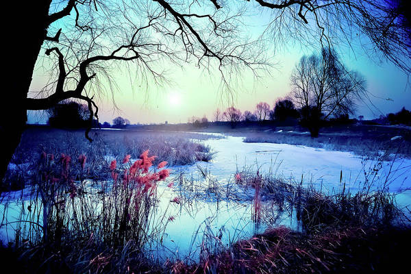 Frozen River Digital Art - Blue Bayou by Michael Damiani