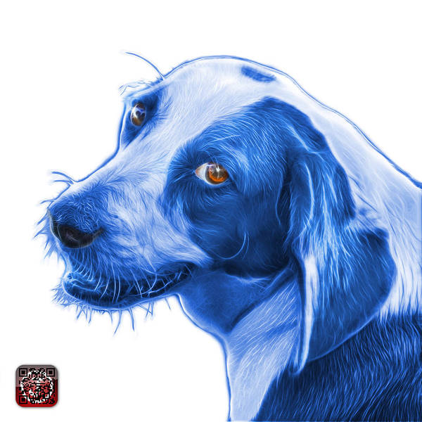 Painting - Blue Beagle Dog Art- 6896 -wb by James Ahn