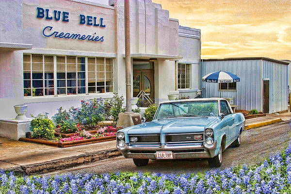 Photograph - Blue Bell, Bluebonnets, And My Grand Prix by Sam Stanton