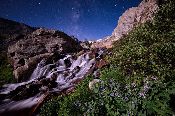 Indian Peaks Wilderness Photograph - Blue Bell Falls by Mike Berenson