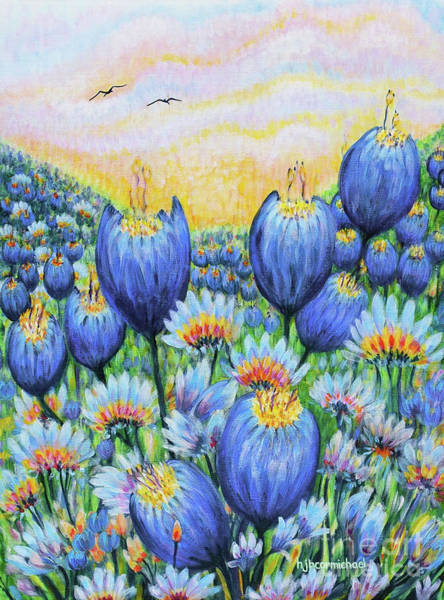 Painting - Blue Belles by Holly Carmichael