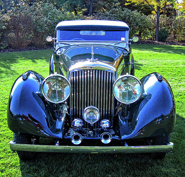 Photograph - Blue Bentley by David King