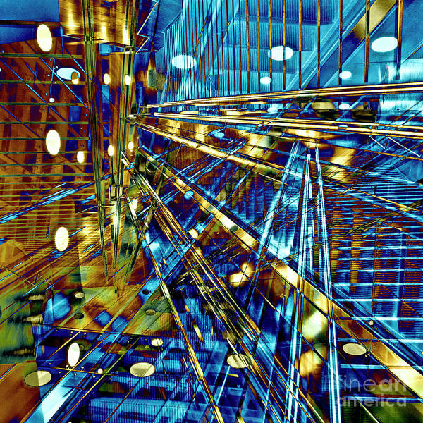 Digital Art - Blue Berlin Sound by Silva Wischeropp