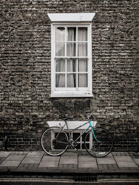 Wall Art - Photograph - Blue Bicycle, Cambridge, England by Carol Leigh