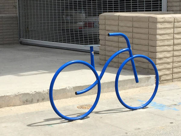 Wall Art - Photograph - Blue Bicycle by Nancy Merkle