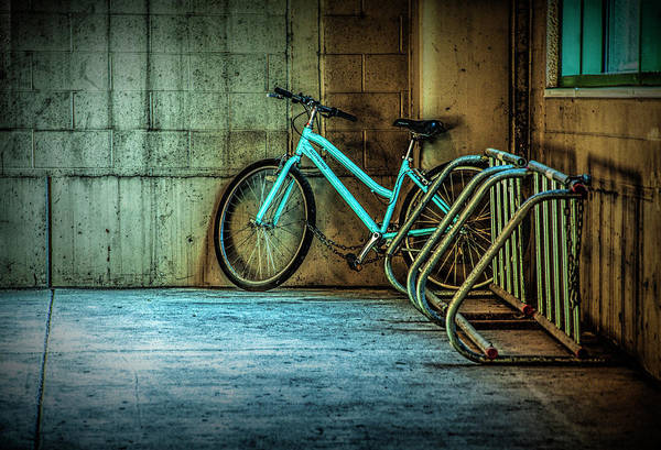 Photograph - Blue Bicycle by Randall Nyhof