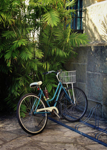 Wall Art - Photograph - Blue Bike-  By Linda Woods by Linda Woods
